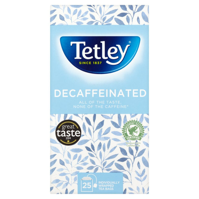 Tetley Decaf 25 Tea Bags