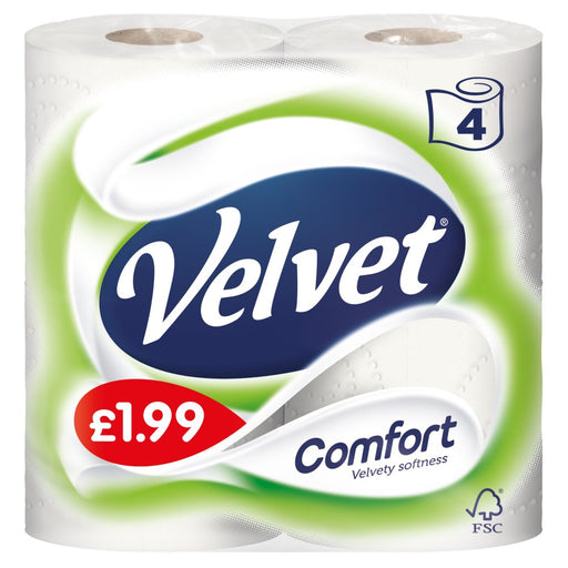 Triple Velvet Comfort 4 Toilet Roll