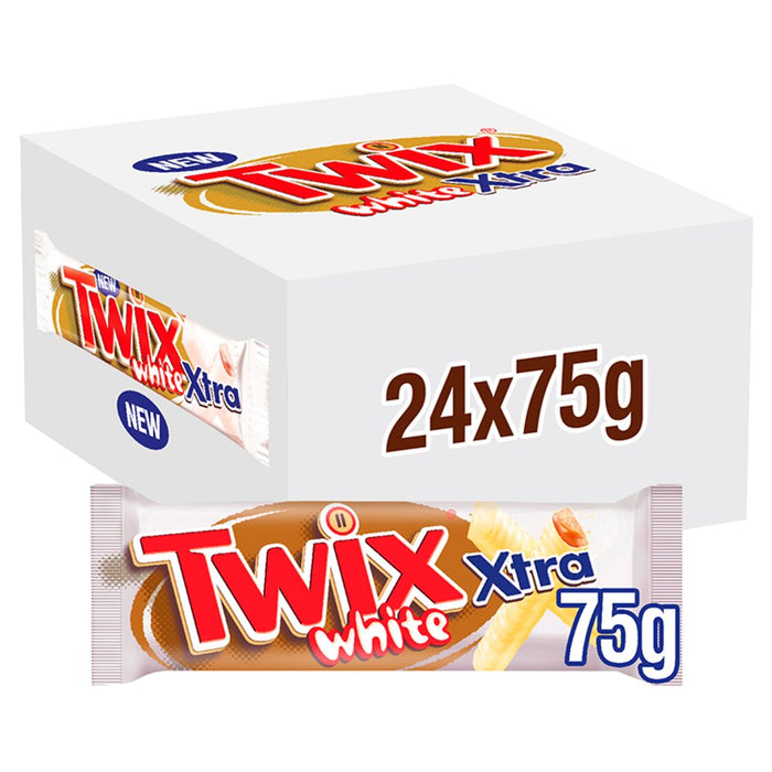 Twix Xtra White Chocolate Biscuit Twin Bars