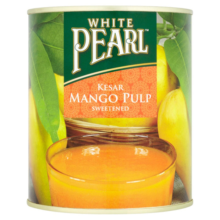 White Pearl Kesar Mango Pulp Sweetened, 850g (Case of 6)