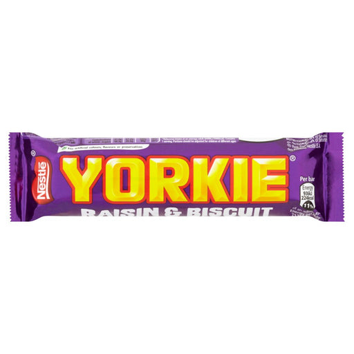 Yorkie Milk Chocolate Bar With Raisin And Biscuit
