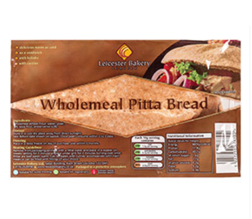 Best-in or Leicester 6 Wholemeal Pitta Bread 420g
