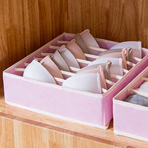 fabric basket bins for storage of bras