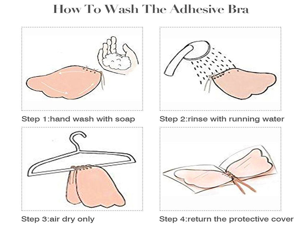 How to wash the invisible bra?