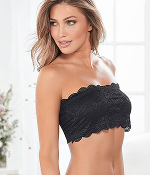 Lace Bandeau With Scalloped Edging