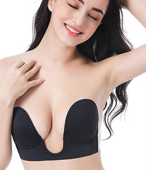 U-shape center push up strapless bra