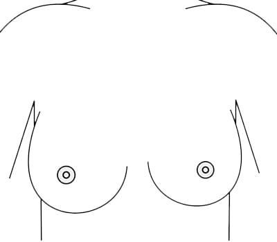 asymmetrical boobs cartoon