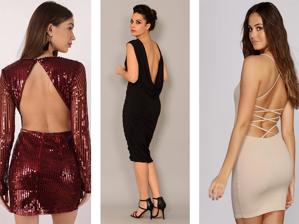 ripped backless dress