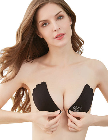Invisible Adhesive Bra Strapless Push up Reusable Backless Sticky Bra - Niidor