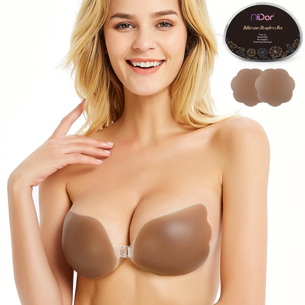 Silicone Backless Bra | Push up | Self Adhesive Silicone | For Wedding Dress Gown | Niidor - Niidor