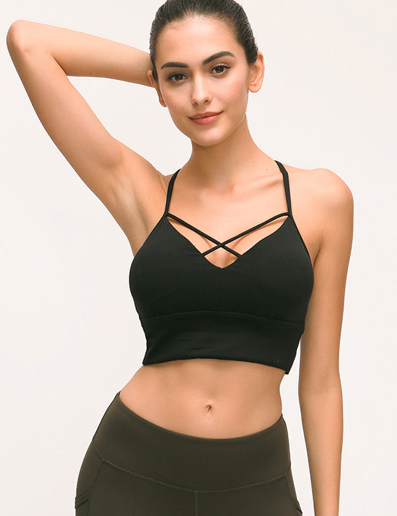 Breathe Strappy Light-support Sport Bra with Lightly Pads - Niidor
