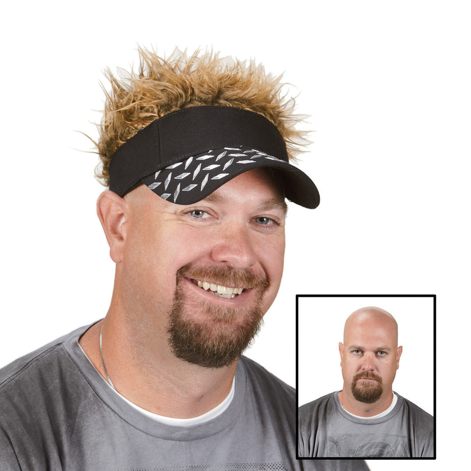Hair Flair Sun Visor With Spiked Hairs