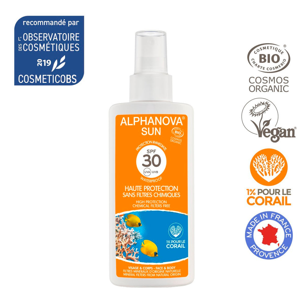 Alphanova Sun - Organic Certified Sun Milk, High Protection SPF30, 125ml