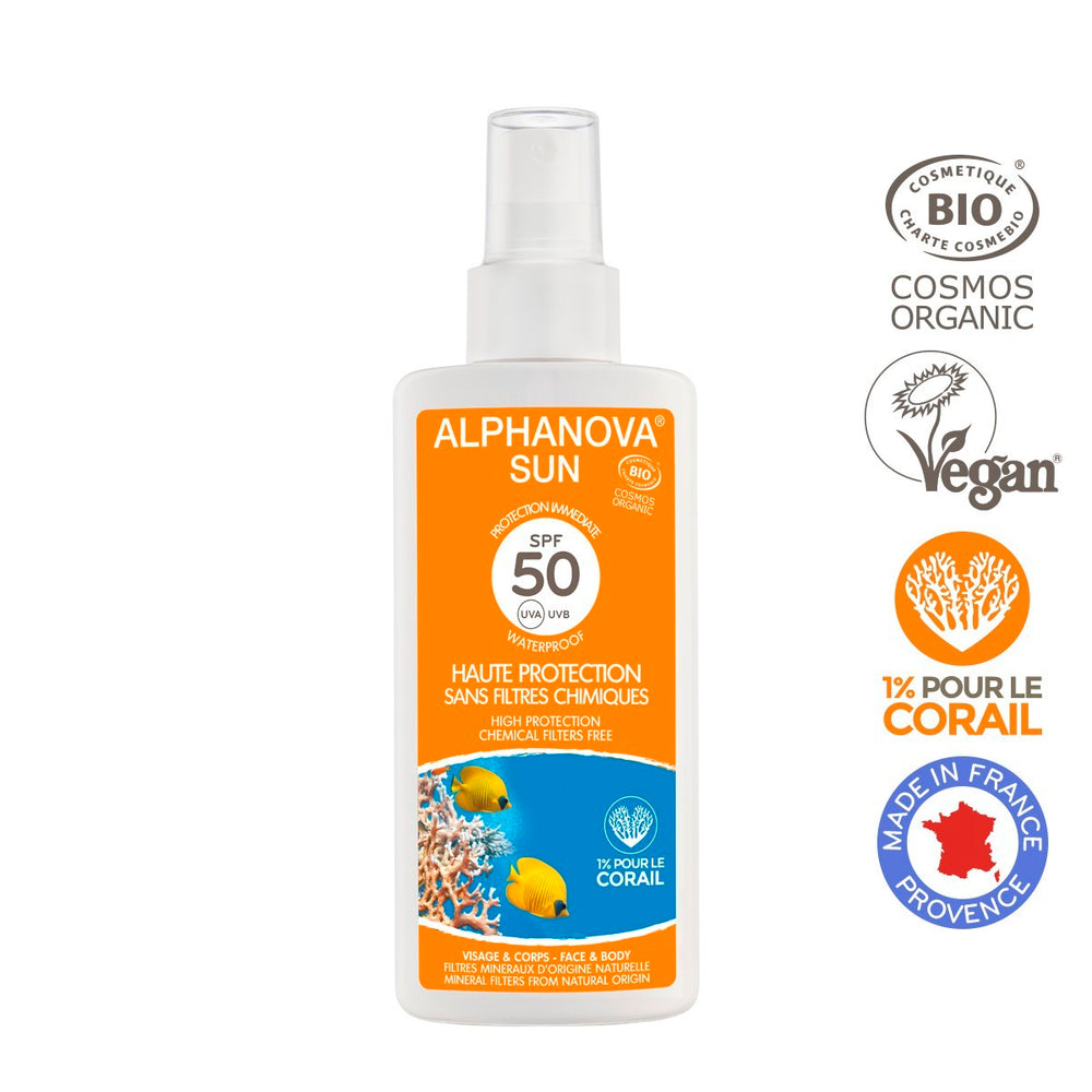 Alphanova Sun - Organic Certified Sun Milk, Very High Protection SPF 50, 125ml