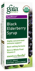Gaia Herbs Black Elderberry Syrup 160 ml (DATOVARE)