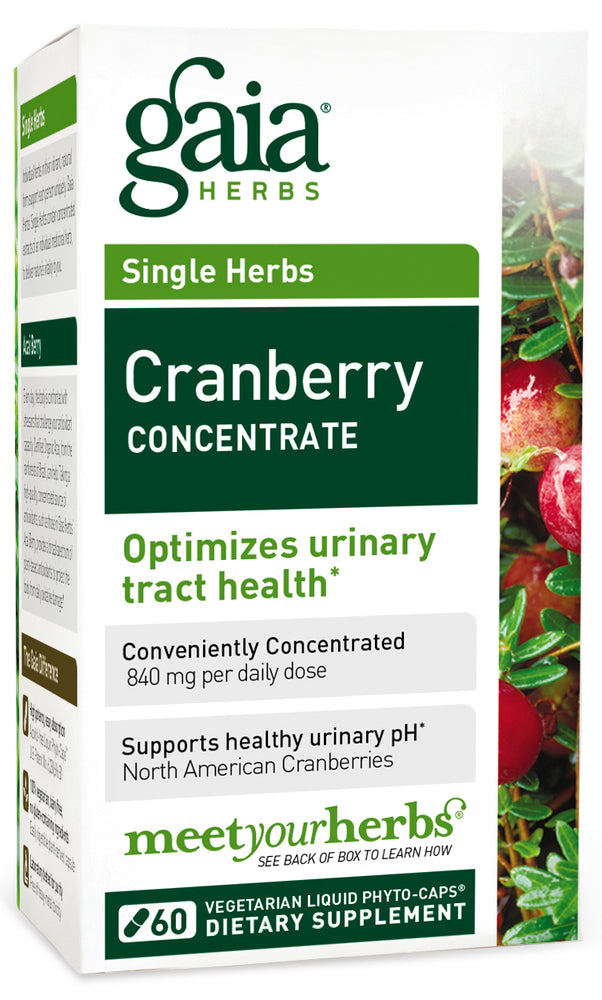 Gaia Herbs Cranberry Consentrate 60 Caps - for urinveiene