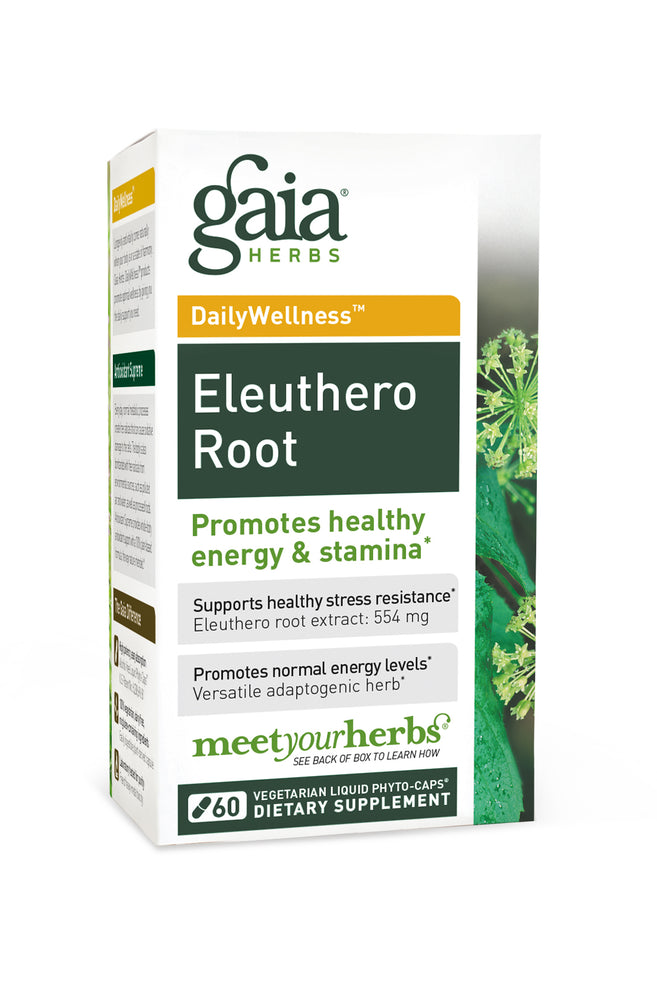 Gaia Herbs Eleuthero Root (Russisk Rot/Sibirsk Ginseng) - 60 Caps