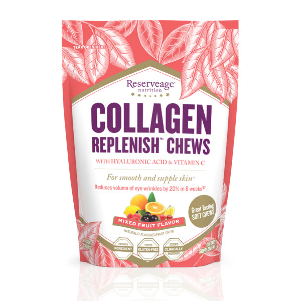 Pose med karameller, Reserveage Collagen Replenish Chews RGB