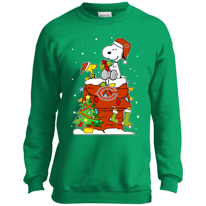 Chicago Bears Snoopy Ugly Christmas Sweaters Shirts Teeo