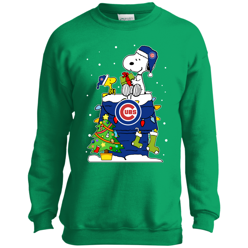 Chicago Cubs Snoopy Ugly Christmas Sweaters Shirts Teeo