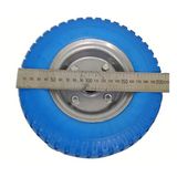 2.5 - 4 Wheel Puncture Proof Blue Tyre