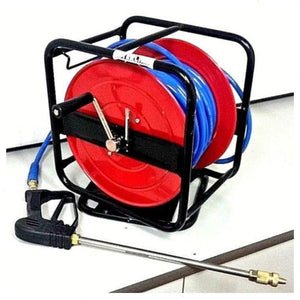 Hose Reel with 30m of 10mm Chemical Hose and Spray Lance