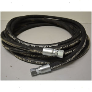 "Hydraulic Hose 3/8"" x 2 Braid 4000 PSI with 3/8"" Bsp Fittings Length 5 meters"