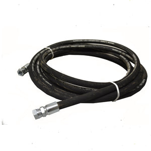 "Hydraulic Hose 3/4"" x 2 Braid PSI x 10 metres Roll with BSP Fittings"