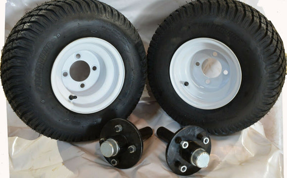 Trailer Wheel Combo Stub Axle and Hub and Wheel Kit for ATV Trailer/Sprayer