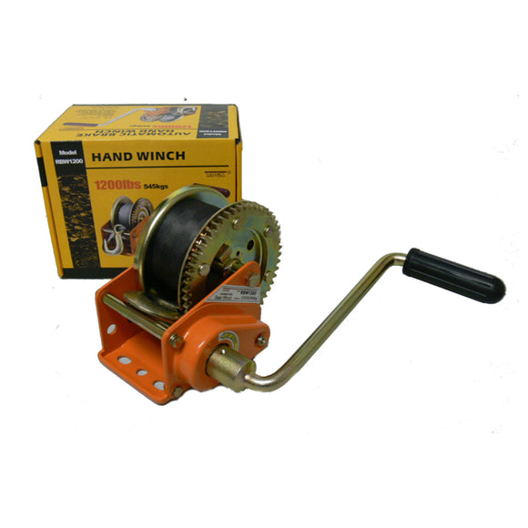 Automatic Brake Hand Winch 661 kg Capacity with Strap