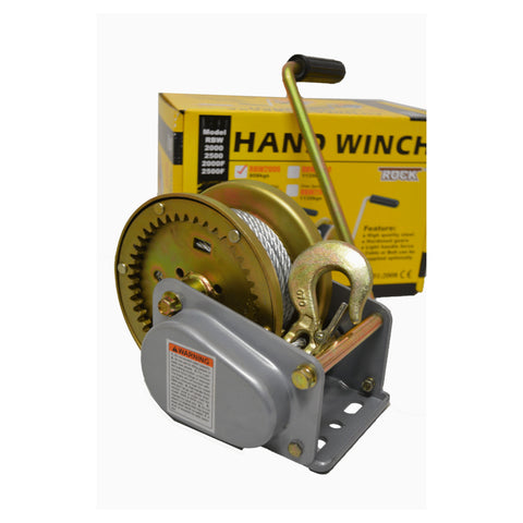 Automatic Brake Hand Winch 545kg Capacity with Wire Rope