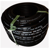 "Hydraulic Hose ZTME Brand 1/4"" x 2 Braid 5800 PSI x 50 M Roll"
