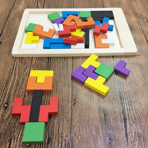 Image of Wooden Tetris Game
