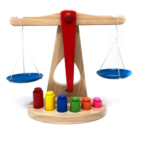 Wooden Balance Scale