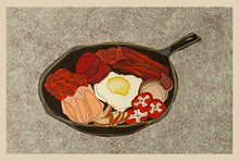 "Load image into Gallery viewer, ""What's For Breakfast?"" Placemats Set of Six. Approximately 18""w x 14"" h."
