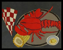 "Load image into Gallery viewer, ""What's for Dinner?"" Placemats. Set of six. Approximately 19""w x 14"" h."