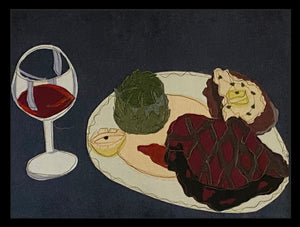 """What's for Dinner?"" Placemats. Set of six. Approximately 19""w x 14"" h."