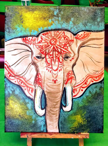 🐘Mandala Elephant🐘  💛All ages welcome! Friday 4/16 6pm  🎨95a west main street Fernley   🥳$25 per person, drinks and snacks always included! Sign up soon @ Www.ArtistasFernley.com
