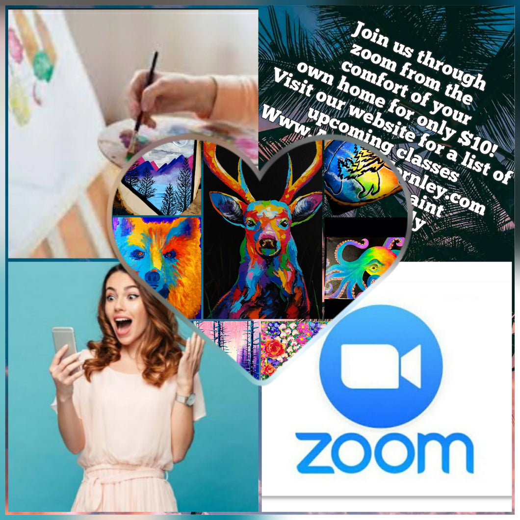 Zoom classes, after purchase please email artistas.diy.studio@gmail.com with your class choice, we will email you back your code and instructions.