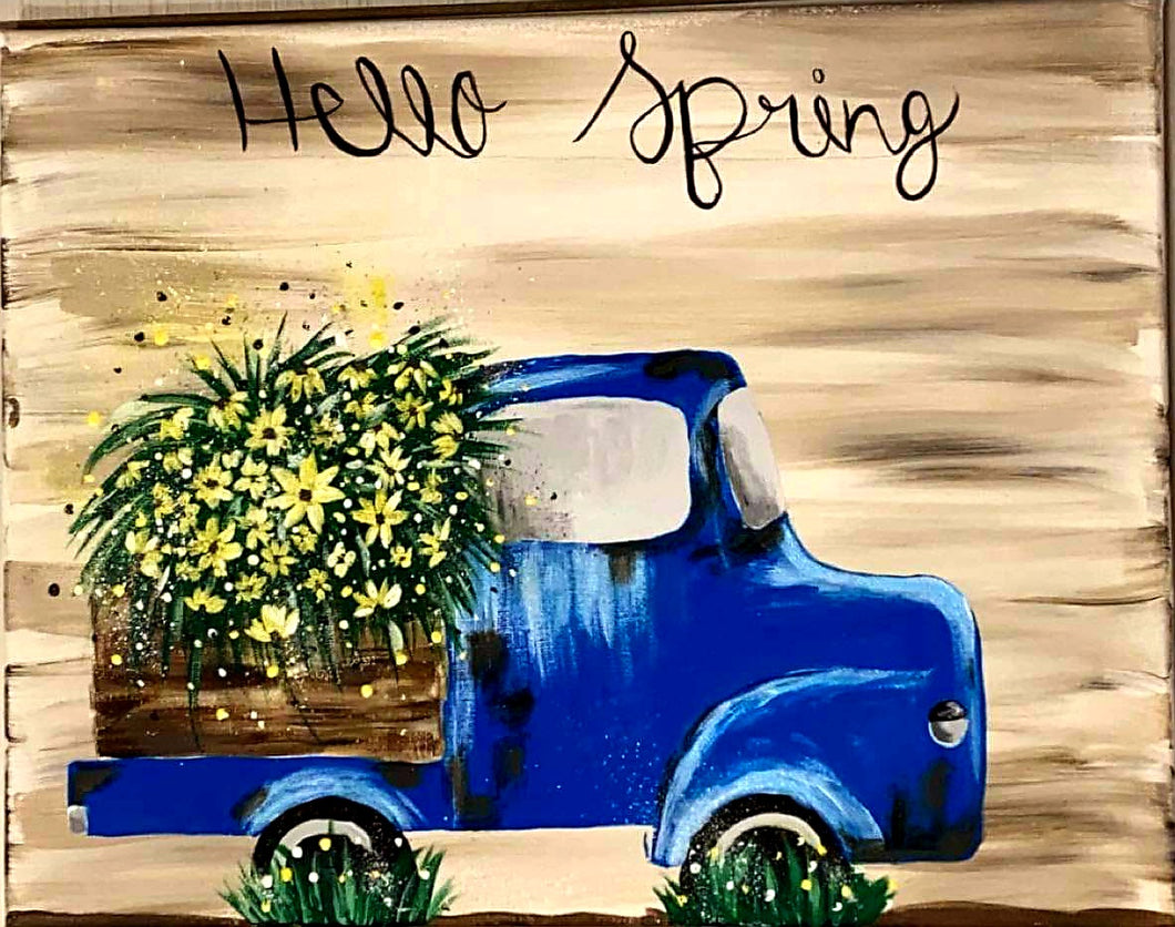 🌼🌻Hello spring paint sip!🌻🌼  👍Friday March 19th 6pm  💛$25 per person, drinks and snacks always included  🎨All ages class    🐣95a west main street Fernley NV   ☎️Signs up soon @ Www.ArtistasFernley.com