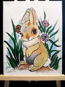 🐰💛Sweet bunny paint n sip💛🐰  🐣Friday April 2nd 6pm  🌻$25 per person, family friendly, drinks and snacks always included!  ✌Sign up @ Www.ArtistasFernley.com