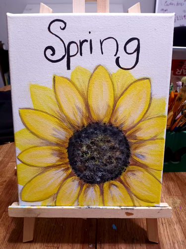 🌻Welcome Spring painting class🌻 Wednesday 4/7 6pm  💛All ages welcome!  🎨95a west main street Fernley   🥳$25 per person, drinks and snacks always included! Sign up soon @ Www.ArtistasFernley.com