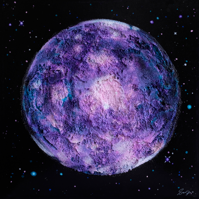 A colourful painting of the moon Callisto