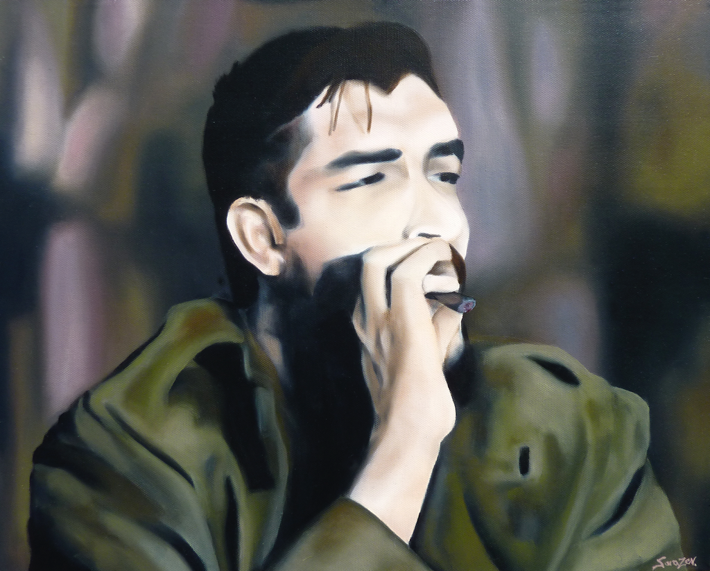 Study of Che Guevara smoking