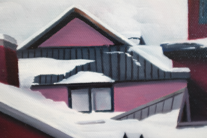 A painting of Whistler Village