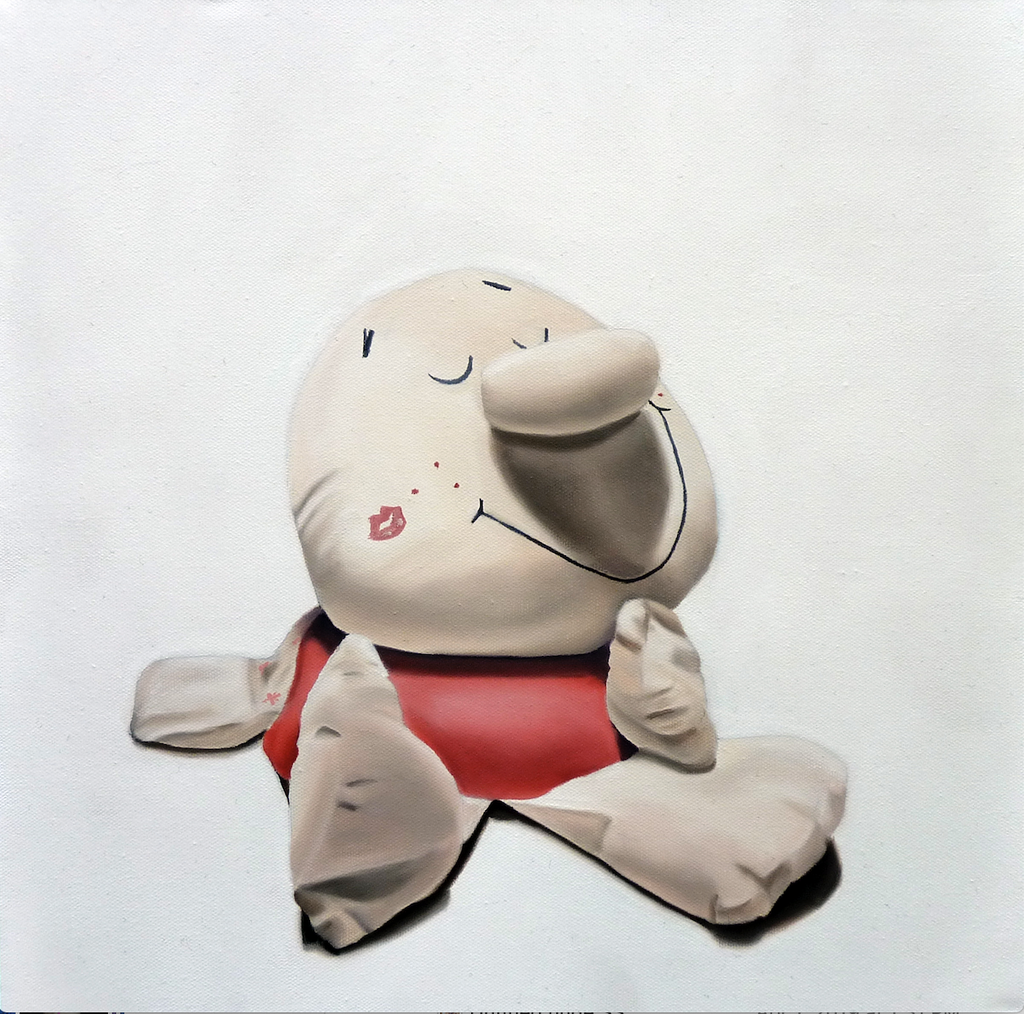 A painting of a childhood toy, deep in reflection
