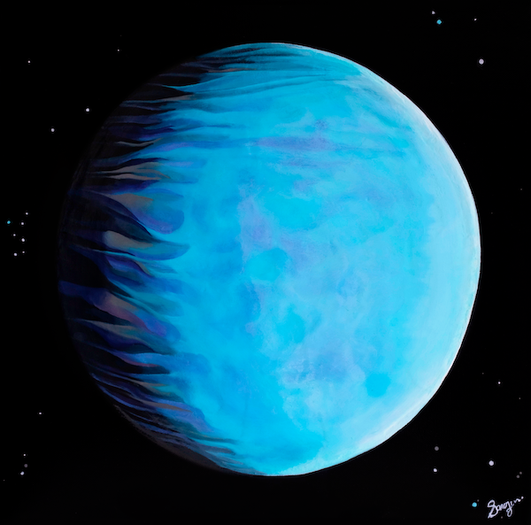 Painting of the planet Uranus