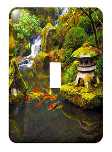 3dRose lsp_191621_1 Portland Japanese Garden, Portland, Oregon, Usa - Single Toggle Switch