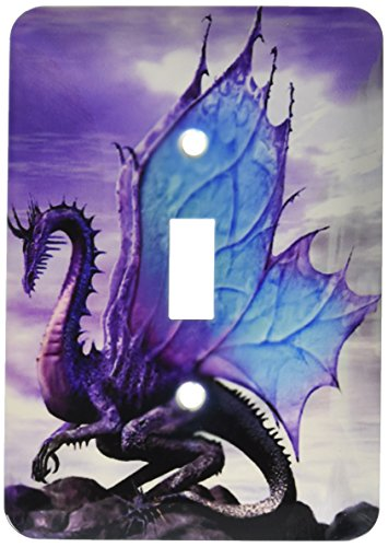 3dRose LLC lsp_4144_1 Fairytale Dragon, Single Toggle Switch