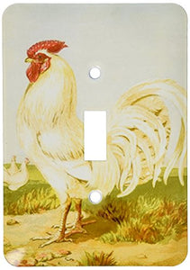 3dRose lsp_179502_1 Image of Painting of White Dorking Chicken Single Toggle Switch
